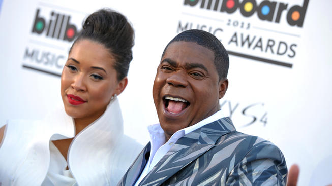 Actress Megan Wollover and Actor Tracy Morgan