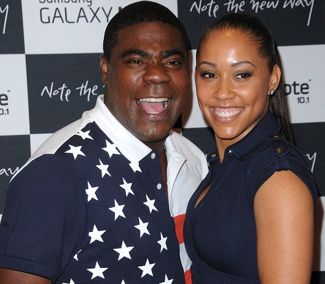 Actor tracy morgan with wife megan wollover