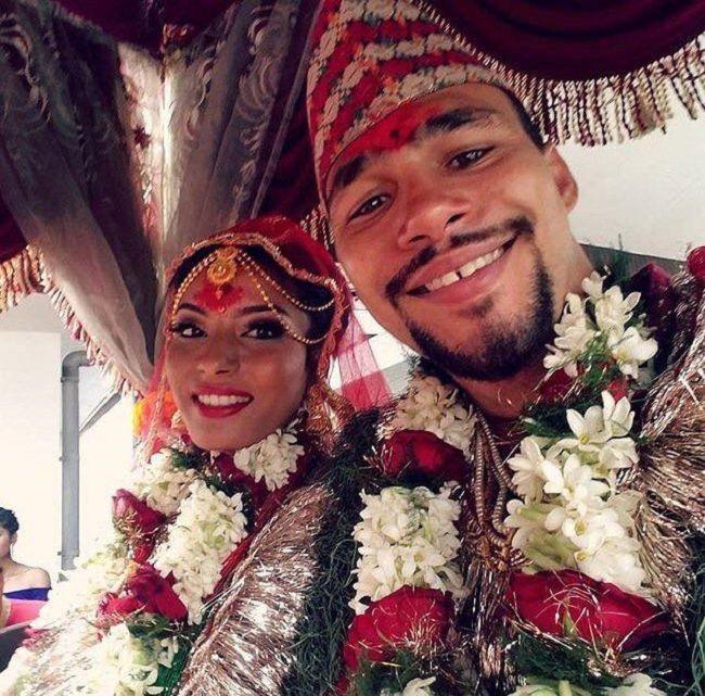 Priyana-Thapa with husband