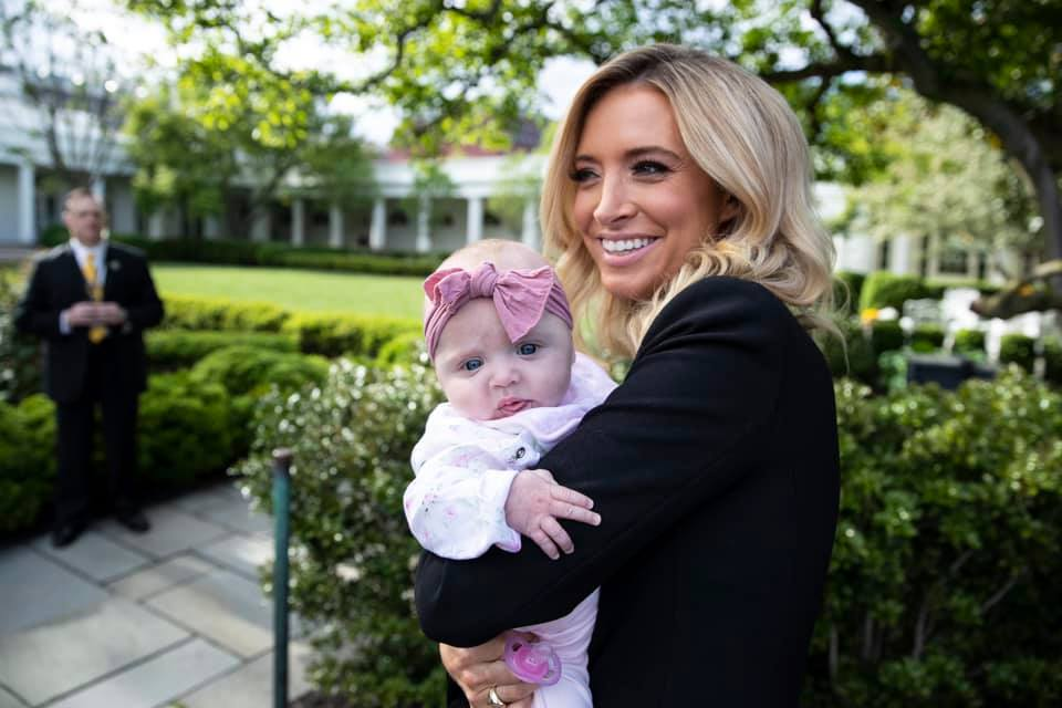 Kayleigh McEnany with daughter
