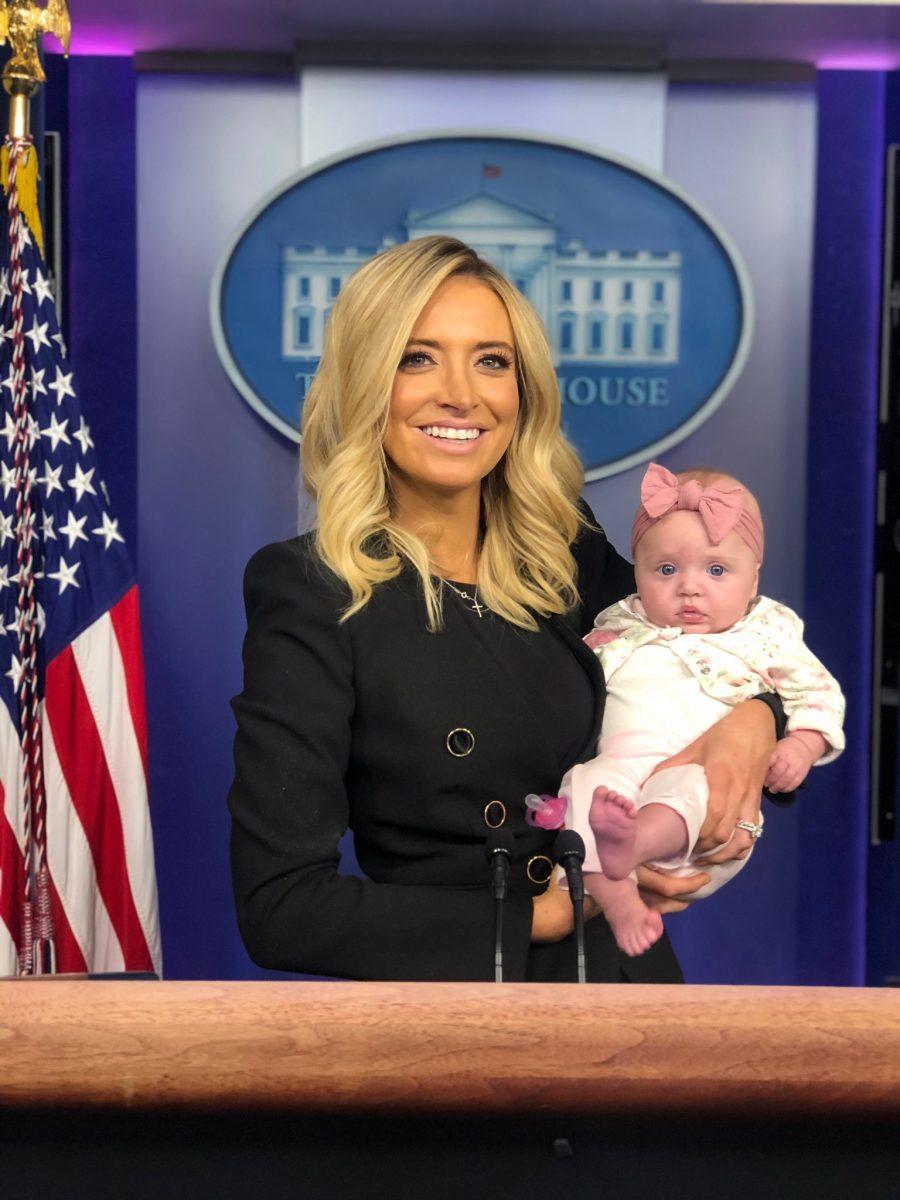 Kayleigh McEnany with daughter Karen Gilmartin blake