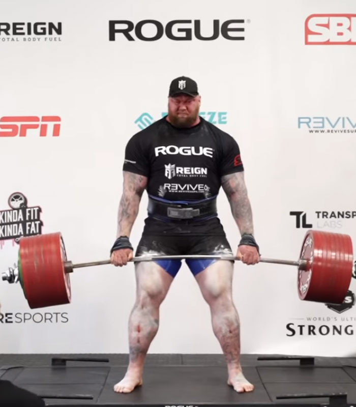 'Game of Thrones' star Hafthor Bjornsson, sets a new record by deadlifting 1,104 pounds