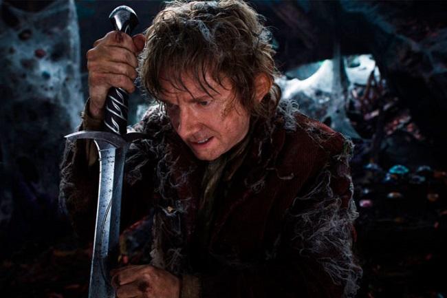 Bilbo Baggins with sword