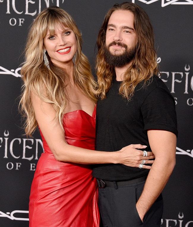 Heidi_Klum in red dress