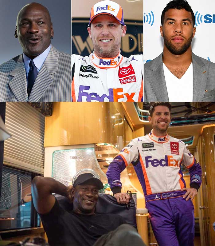 Michael Jordan, Denny Hamlin Form NASCAR Team hires Bubba Wallace Behind The Wheel