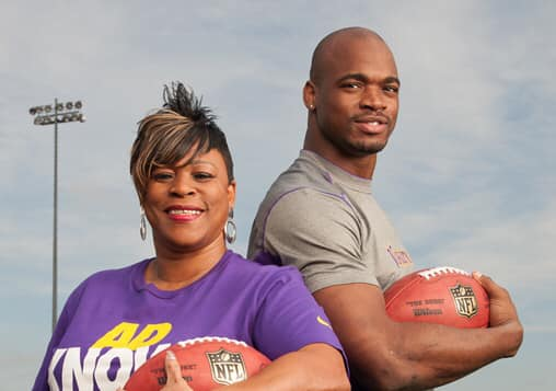 adrian peterson mother