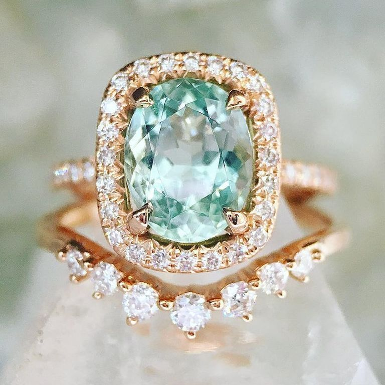 engagement ring coloured for gemini