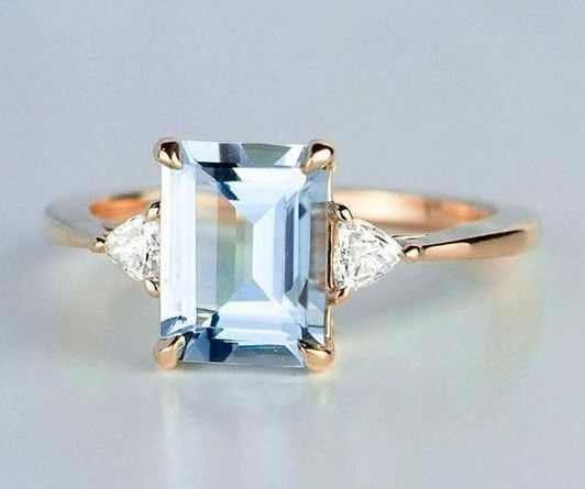 engagement ring emerald cut for virgo