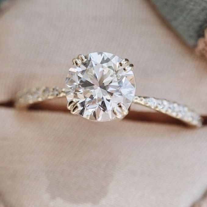 engagement ring solitaire for capricorn