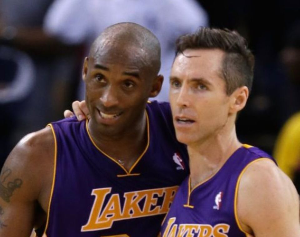 steve nash with kobe bryant