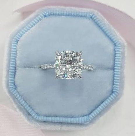 taurus engagement ring cushion