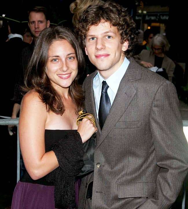 Anna Strout with her husband Jesse Eisenberg