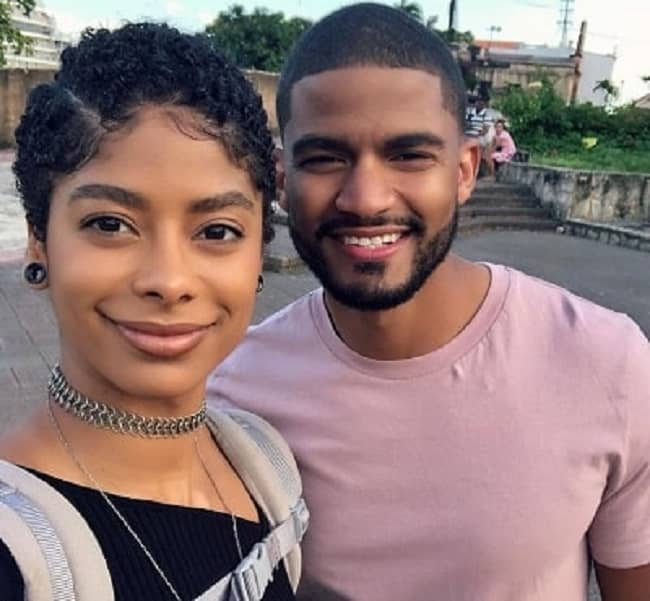 Massy Arias with her brother